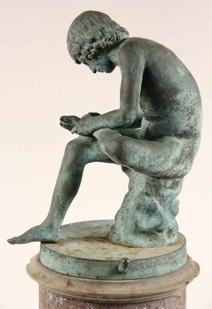 Spinario (Boy Pulling a Thorn from his Foot) by 19th Century Italian School