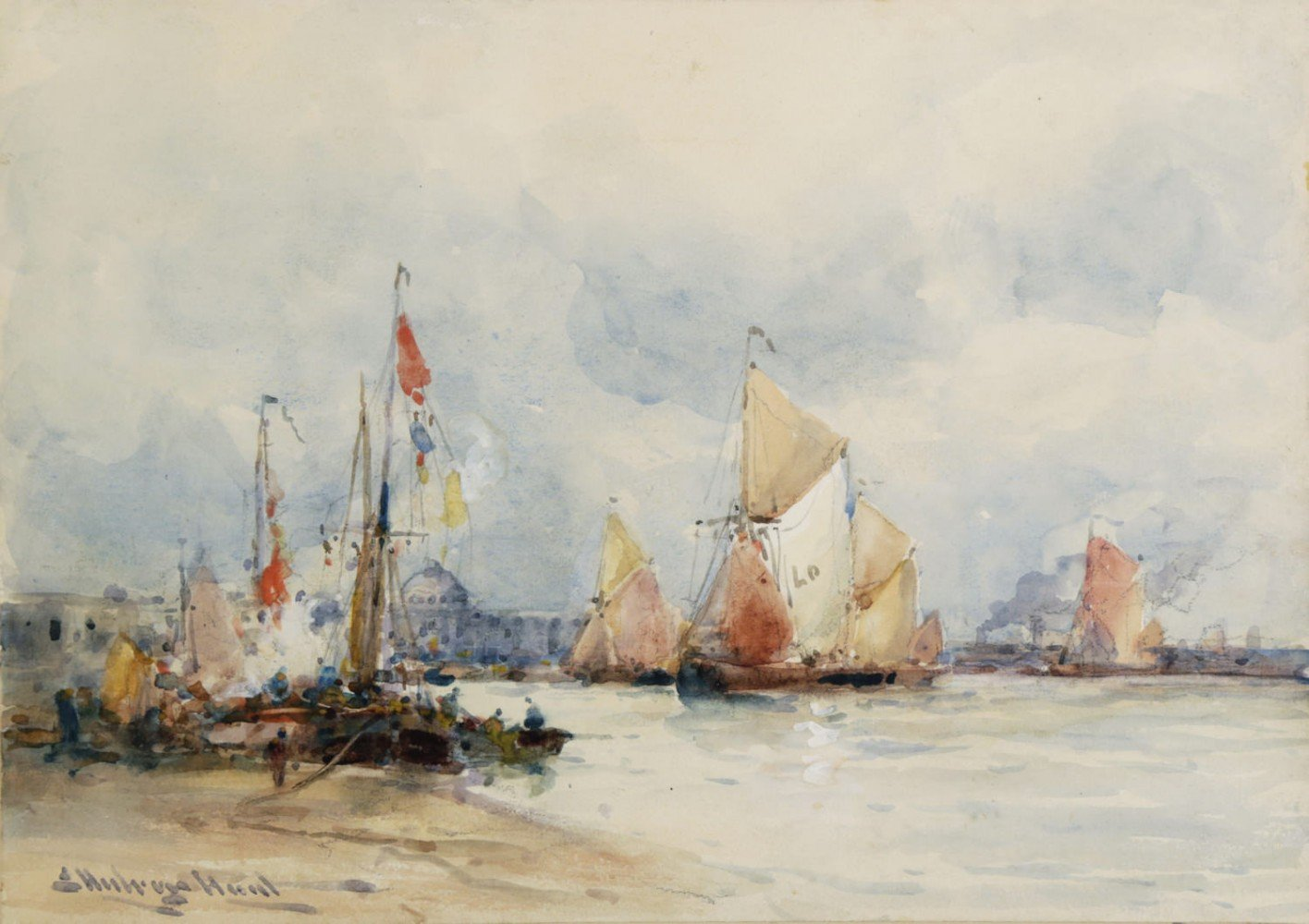 Venice from the Harbor  by 19th Century British School