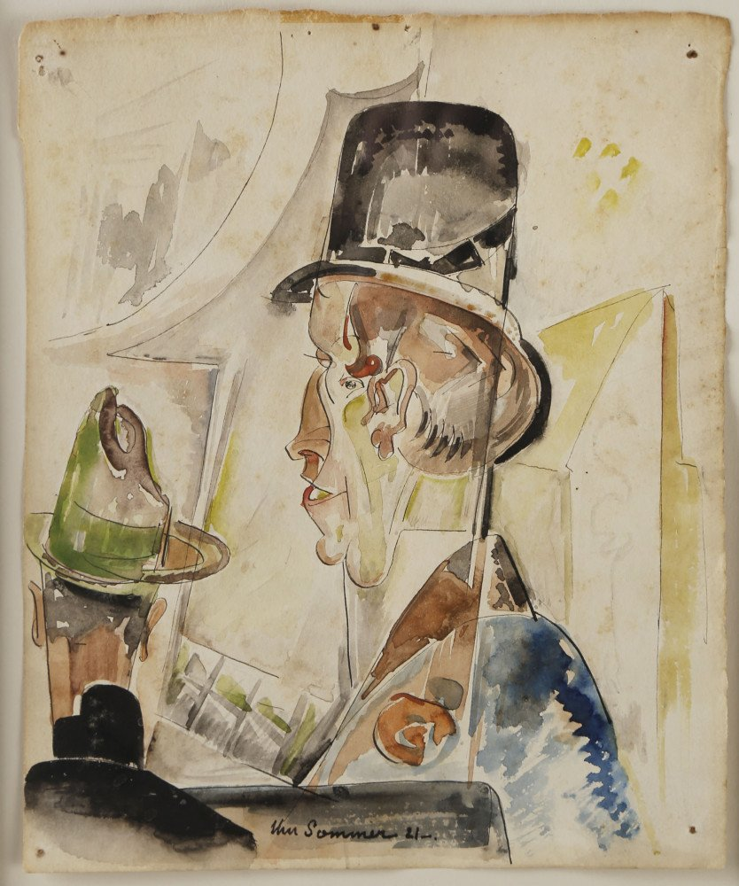 Man in Top Hat by William Sommer