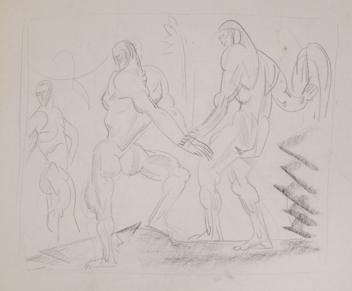 Three Figures by William Sommer