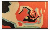 Abstract in Orange, Black and Green by William A. Van Duzer
