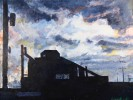 Steel Mill at Night by William A. Van Duzer