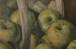 Still Life with Basket of Apples by Adam Lehr