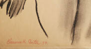 Figurative Charcoal on Paper Drawing: