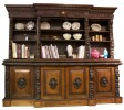 A Continental Carved Oak Bookcase