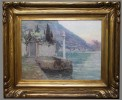 Boat House, Lake Como by Frederick Carl Gottwald