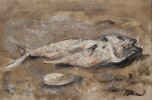 Still Life, Fish and Oyster Shell by Harold Cohn