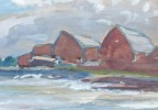 Fish Houses, Huron by Henry George Keller